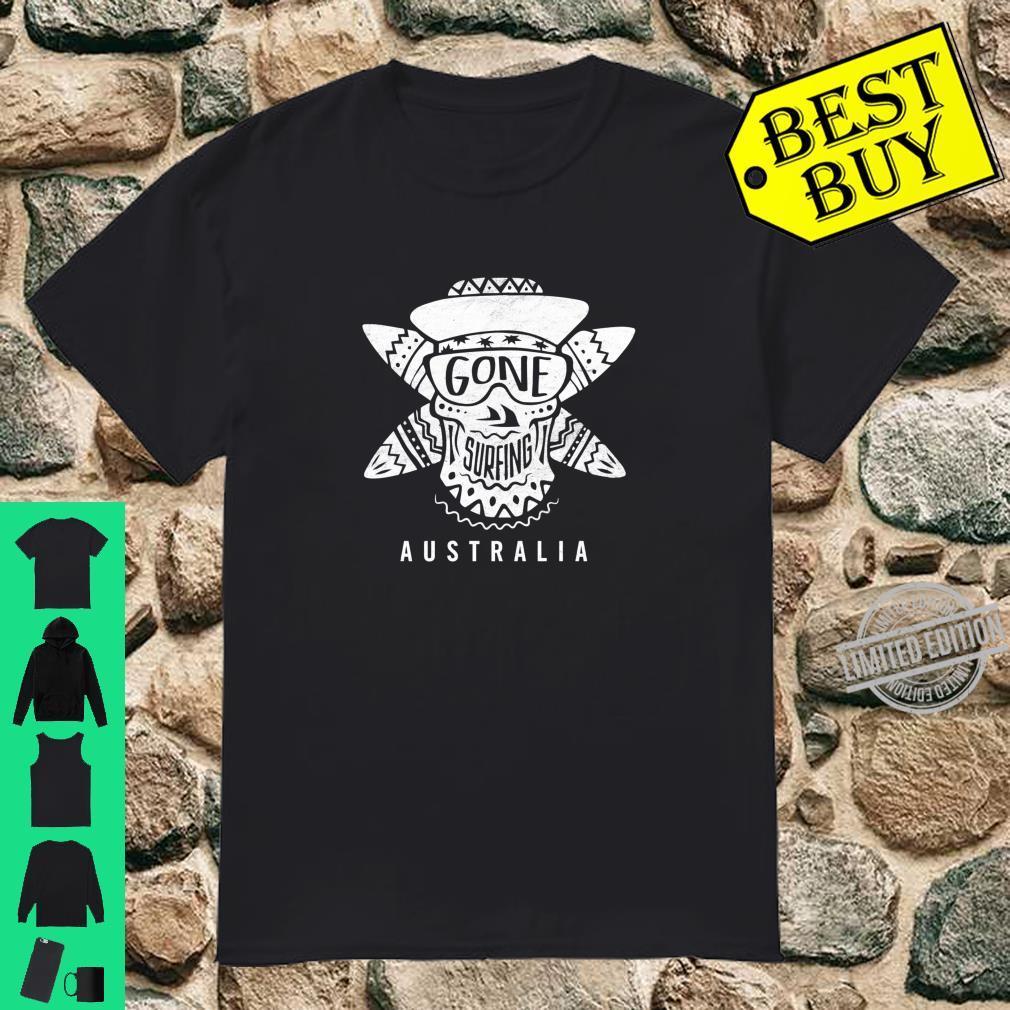 Gone Surfing Australia shirt Awesome surfer design Shirt