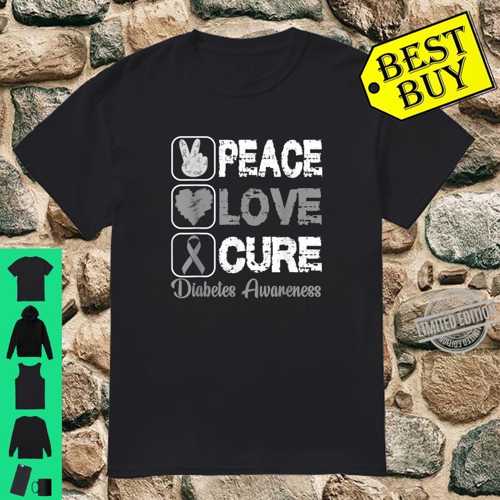 LOVE PEACE CURE DIABETES AWARENESS Shirt