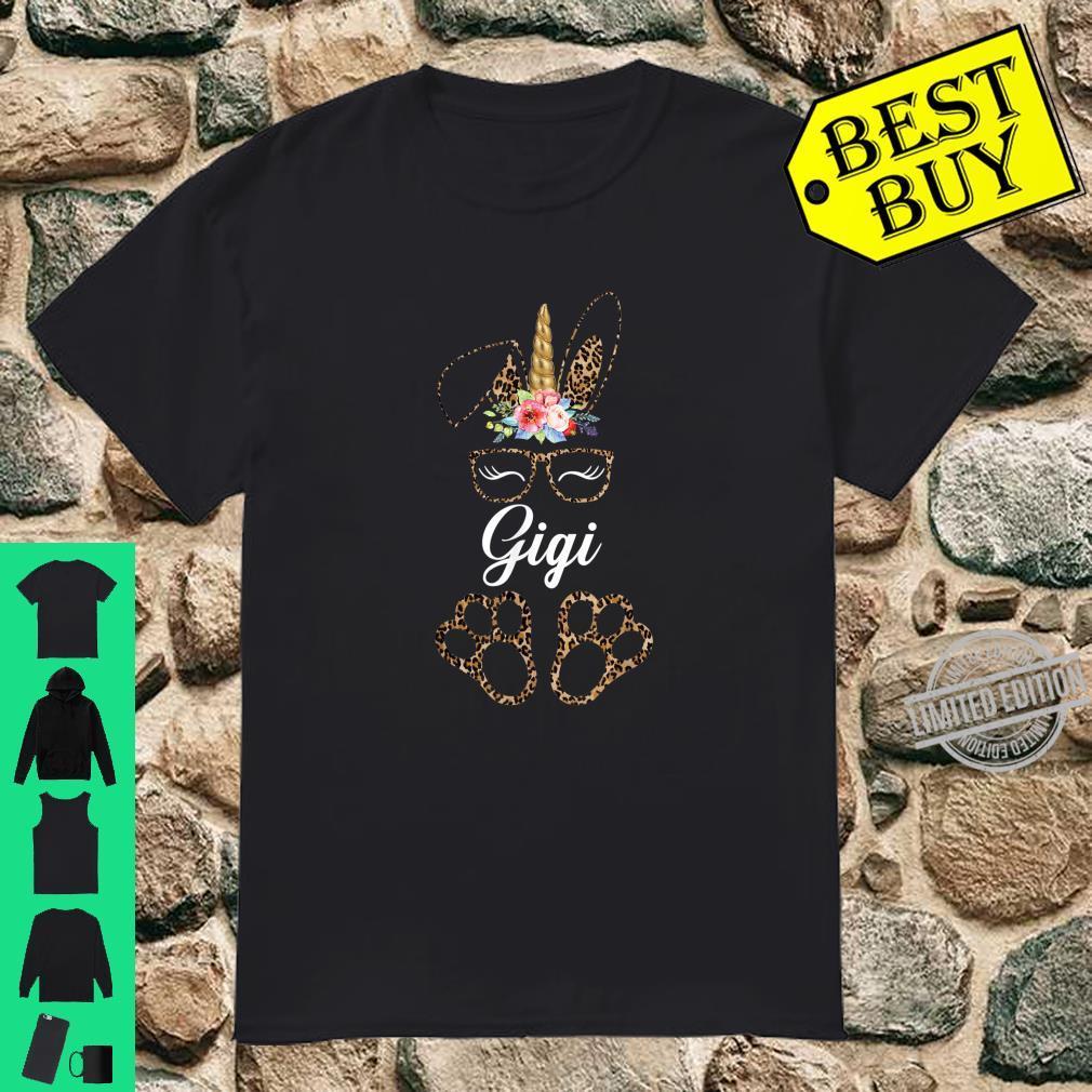 Leopard Unicorn Bunny Gigi Foral Easter Rabbit Shirt Shirt