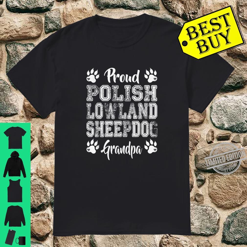 Proud Polish Lowland Sheepdog Dog Grandpa Paws Shirt