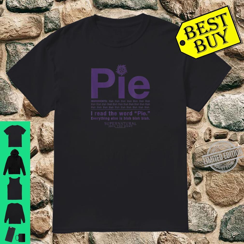 Supernatural Pie Shirt